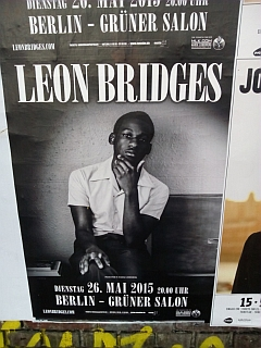 Leon Bridges Konzert Berlin 2015