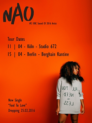 NAO Tourdaten