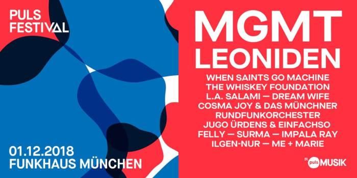 Line-Up Puls Festival 2018 Erlangen und München