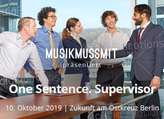 Wir präsentieren: One Sentence. Supervisor im Oktober live in Berlin | Gästelistenplätze