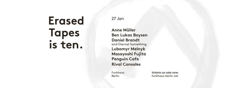 Erased Tapes is ten Konzerte im Funkhaus Berlin
