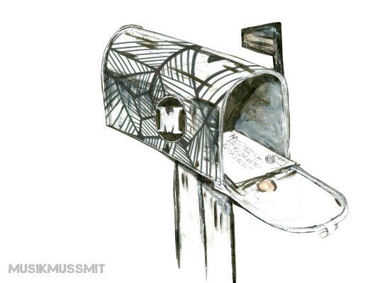 Musik aus der Postbox MUSIKMUSSMIT Elektro Illustration Jakuffo