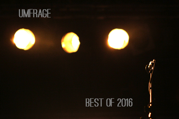 Umfrage MUSIKMUSSMIT Best Of 2016