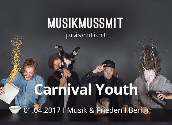 Read more about the article Wir präsentieren: Carnival Youth live im Musik & Frieden Berlin | Gästelistenplätze